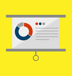 Simple office presentation vector