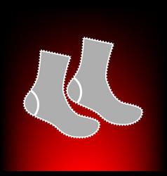 Socks style on vector
