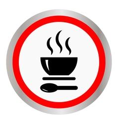 Soup Icon Button vector image vector image