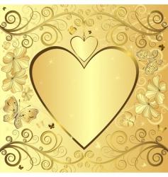 Valentine elegant golden background vector