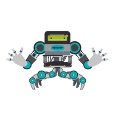 Robot cartoon technology android metal icon vector