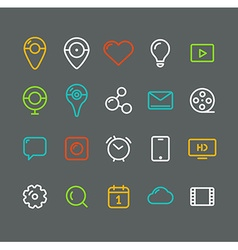 Different simple web pictograms collection vector image
