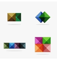Set of square abstract backgrounds or infographics vector