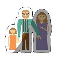 people family together image vector image