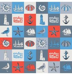 Sea love card vector image