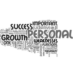 Why personal growth is so lucrative text word vector