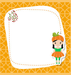 Greeting card with cute girl greeting card with vector