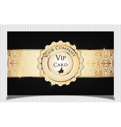 Black creative vip card vector