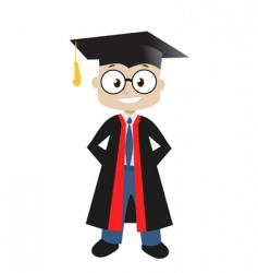 graduate in classroom vector image