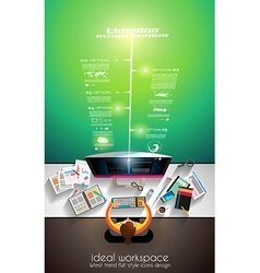 3d infographic teamwork and brainstorming with vector