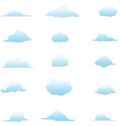 Cloud Collection 4 vector image
