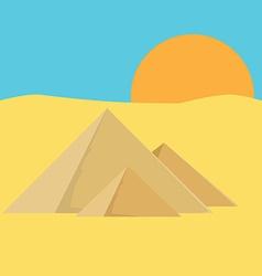 Pyramid egypt vector image