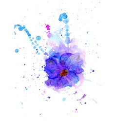 Watercolor flower3 vector