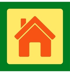 House icon from commerce buttons overcolor set vector