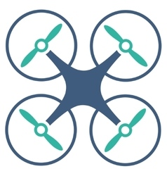 Copter icon from business bicolor set vector