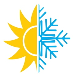 Summer winter air conditioning icon3 resize vector