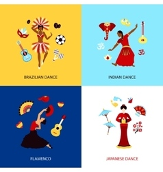 Woman dancing design concept vector
