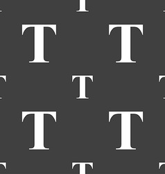 Text edit icon sign seamless pattern on a gray vector