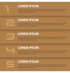 Brown modern design business horizontal banners vector