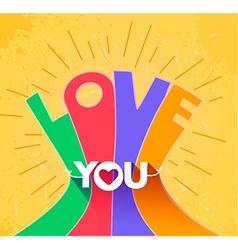 Lettering love vector