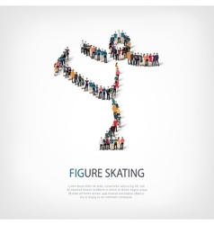 People sports figure skating vector