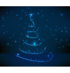 Blue christmastree background vector