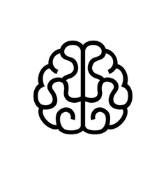 Brain icon on white background vector
