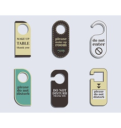 Brand identity elements- Door knob or hanger sign vector image