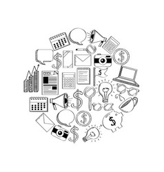 business related icons vector image