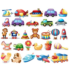 Collection of toys vector image