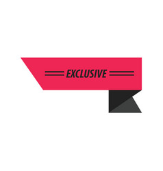 Design ribbon exclusive black pink vector