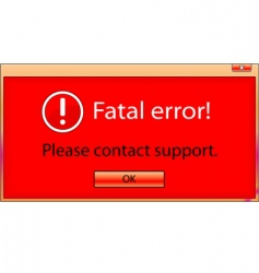 fatal error window vector image vector image