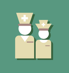 Flat icon design collection nursing staff vector