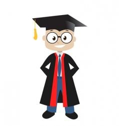 graduate in classroom vector image vector image