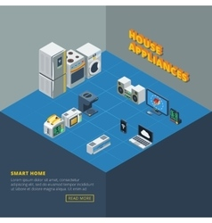 House appliances set isometric vector