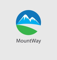 Mount way logo vector