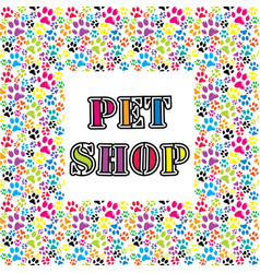 pet shop background vector image vector image