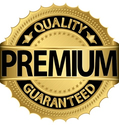 Premium Quality guaranteed golden label vector image vector image