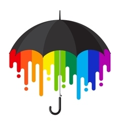 Rainbow umbrella vector