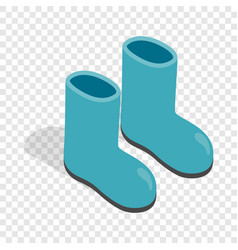 rubber boots isometric icon vector image