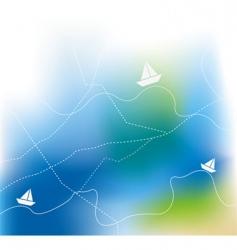 sailing ship on sea vector vector image