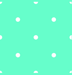 tile pattern with white polka dots on mint green vector image vector image