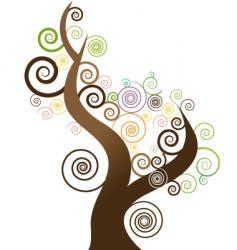 Tree swirl vector