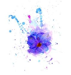 Watercolor flower3 vector