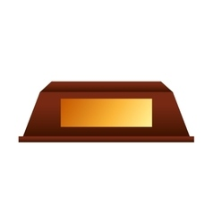 Trophy gold award icon vector