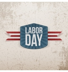 Labor day realistic paper tag vector