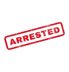 Arrested text rubber stamp vector