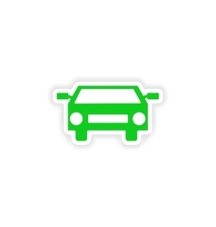 Icon sticker realistic design on paper car vector