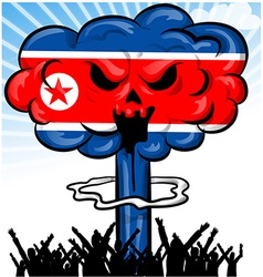 Bomb on north korea flag vector