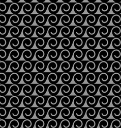 Monochrome seamless pattern with stylized waves vector image